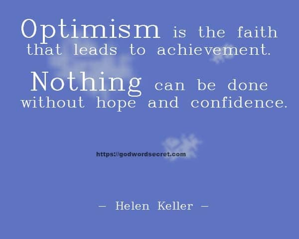 Optimism is the
