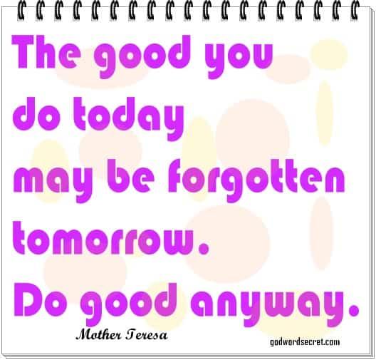 do good anyways