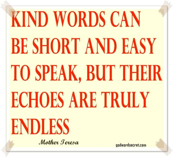 kind words are