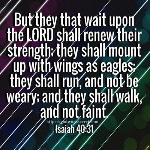 But They That Wait Upon The LORD Shall Renew